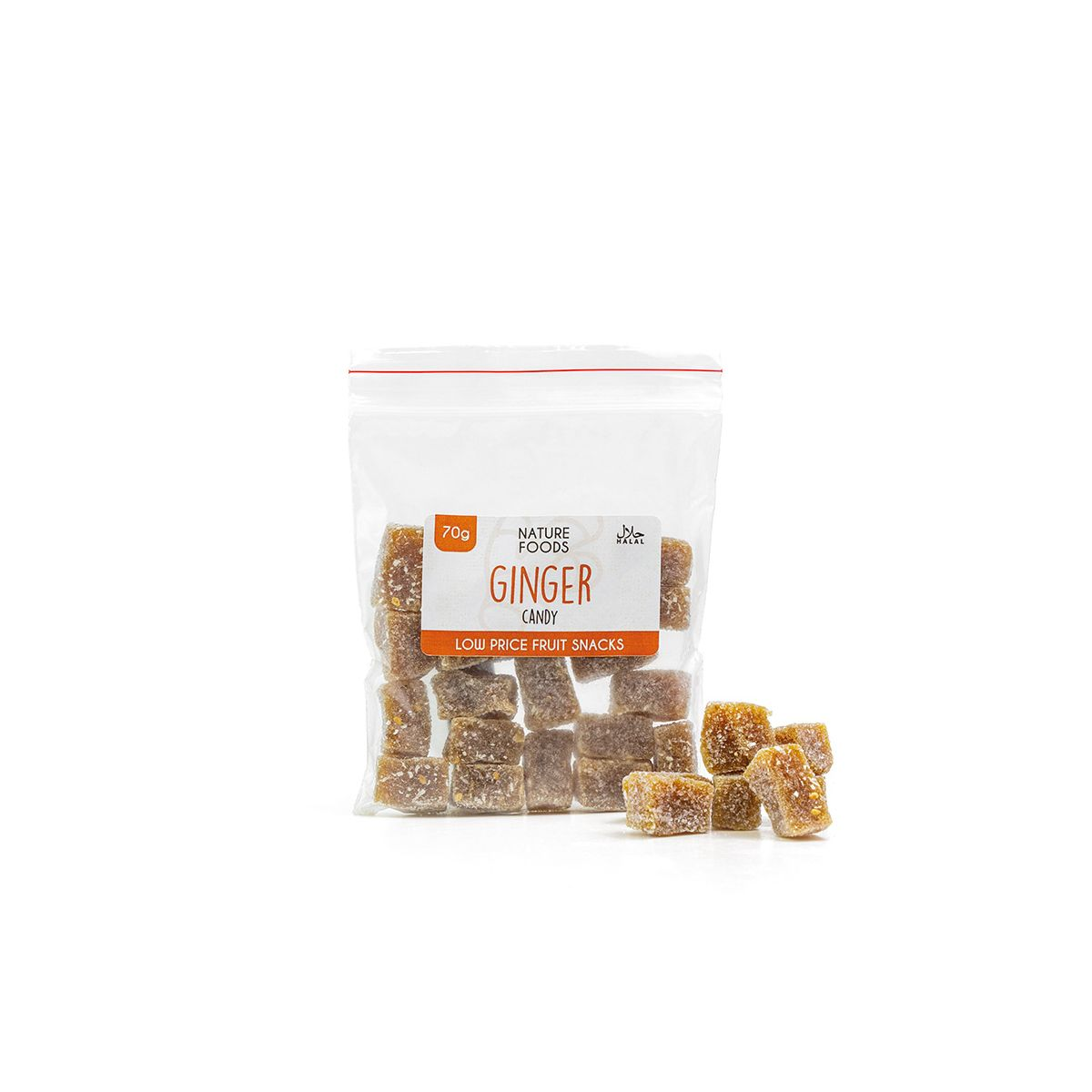 Ginger Candy (70g)   Nature Foods UK