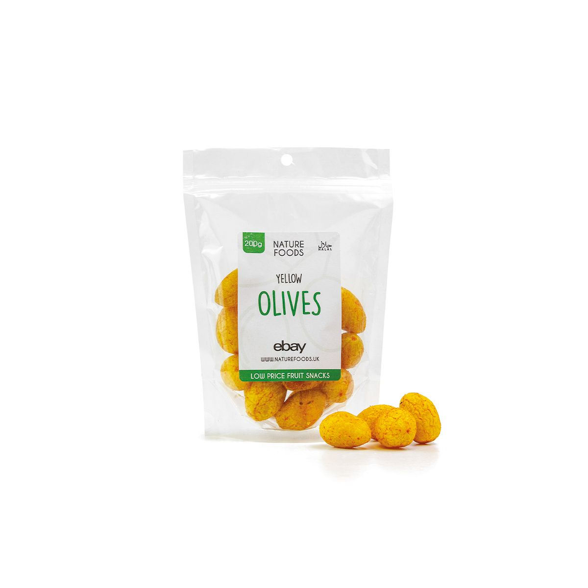 Yellow Olives (200g)   Nature Foods UK