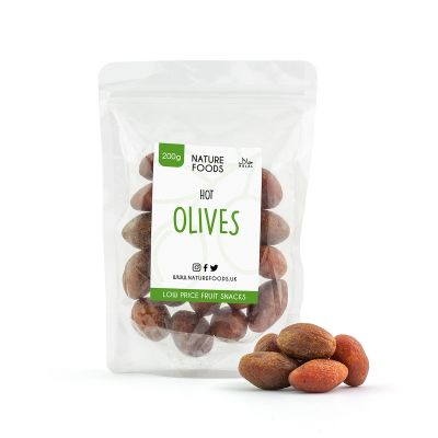 Spicy Olives (200g) | Nature Foods UK