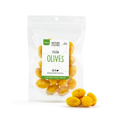 Yellow Olives (200g) | Nature Foods UK