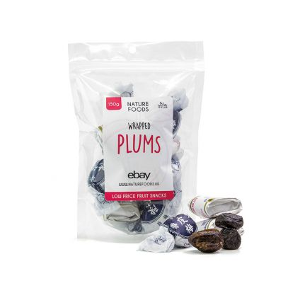 Wrapped Plums (150g) | Nature Foods UK